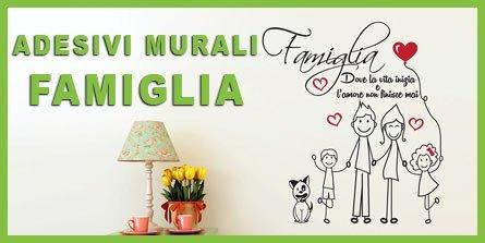adesivi murali famiglia frasi e disegni
