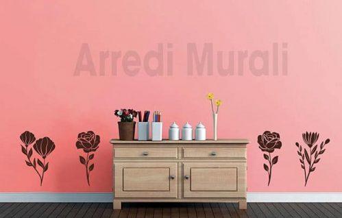 adesivi murali fiori decorazioni da parete