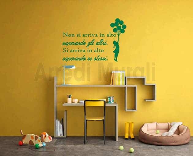 adesivi murali frase motivazionale