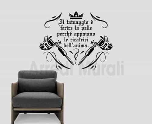 adesivi murali frase tatuaggio decorazioni da parete