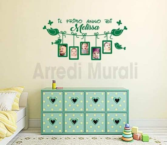 adesivi murali personalizzati cornici foto bimbi