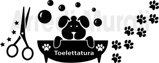 adesivi toelettatura cani