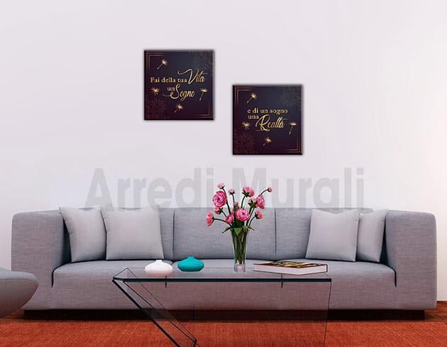 quadri moderni stampa tela con frase