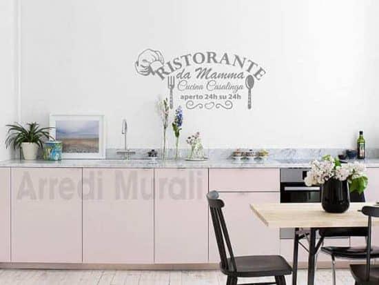 stickers murali cucina frase mamma