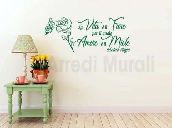 stickers murali frase Victor Hugo decorazioni da parete
