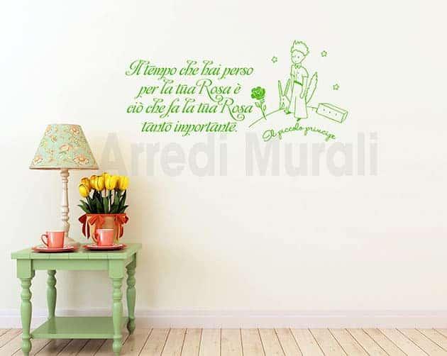 stickers murali frase piccolo principe