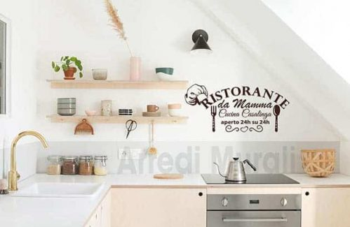 wall stickers cucina frase mamma