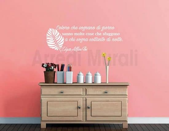 wall stickers frase Edgar Allan Poe