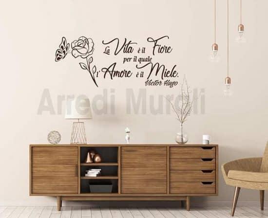 wall stickers frase Victor Hugo decorazioni da parete