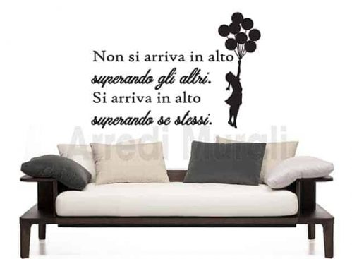 wall stickers frase motivazionale