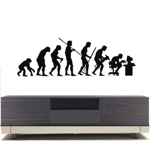 Adesivi da parete evoluzione uomo nero
