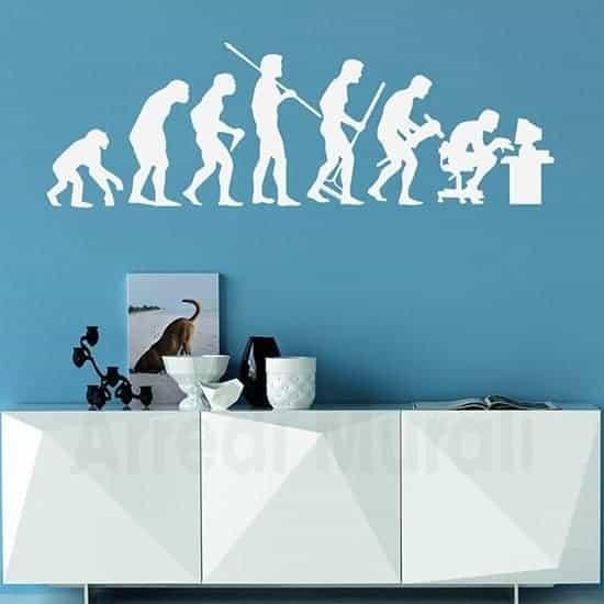 Adesivi da parete evoluzione uomo bianco