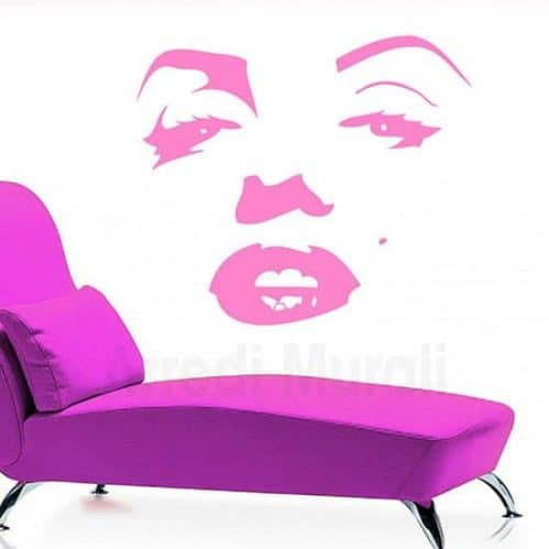 Adesivi murali Marilyn Monroe volto fucsia