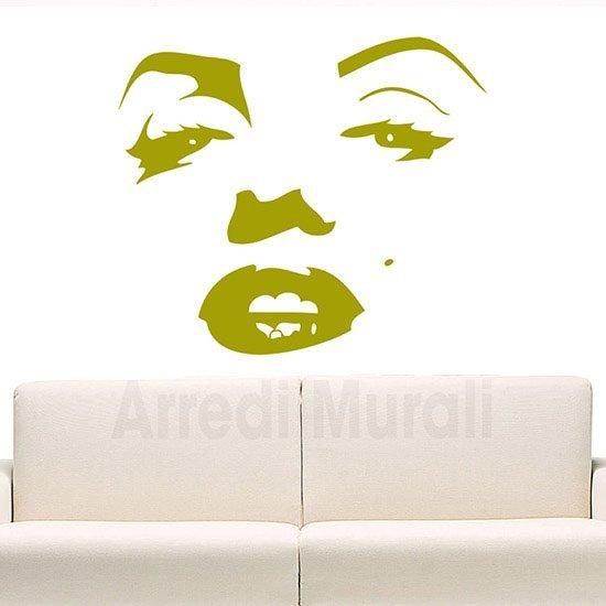 Adesivi murali Marilyn Monroe volto oro
