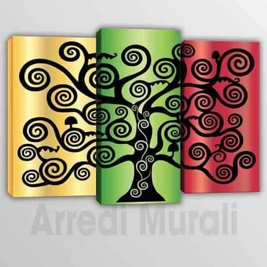Quadri moderni 3 stampe albero della vita