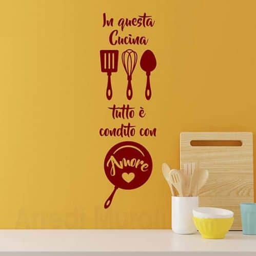 Wall stickers cucina frase bordeaux
