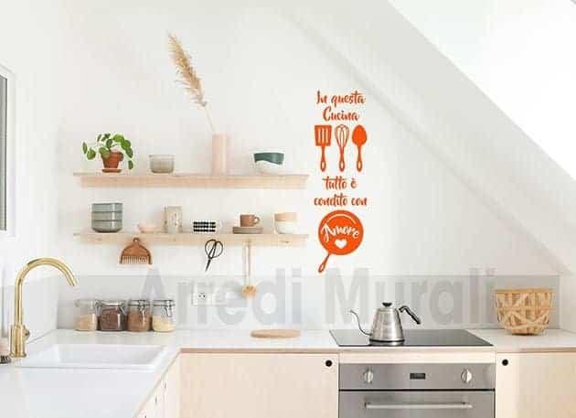 adesivi da parete cucina frase arredo