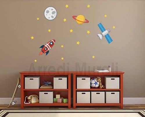 adesivi da parete spazio cameretta bimbo