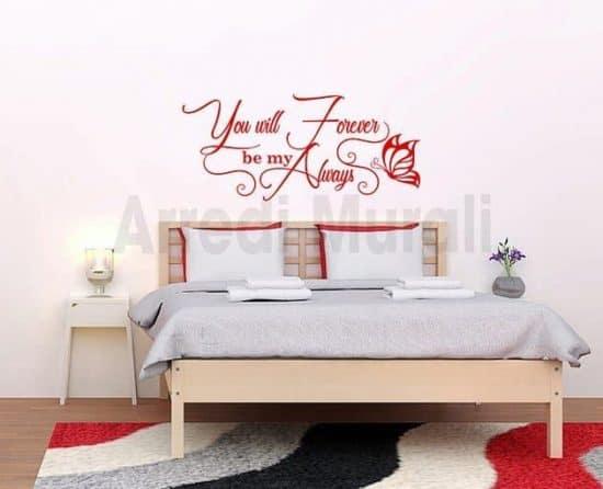 adesivi murali letto decorazioni da parete