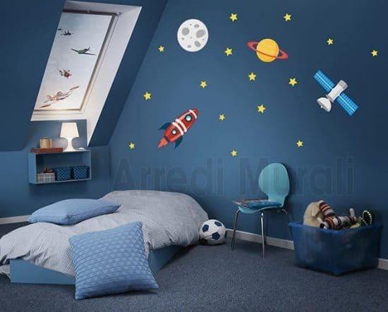 adesivi murali spazio cameretta bimbo