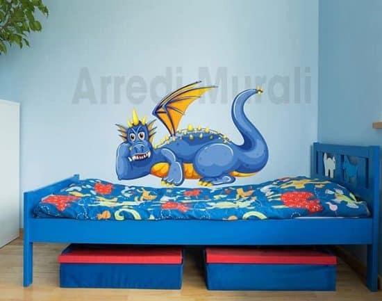 adesivo murale drago camerette bambini