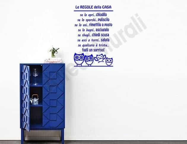 decorazioni da parete regole della casa
