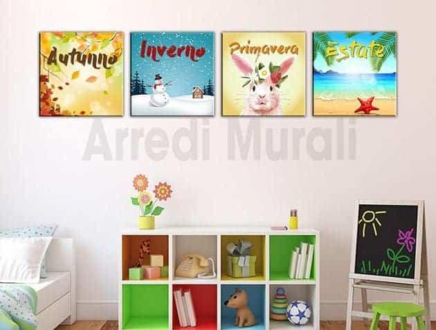 quadri moderni stampe tela stagioni