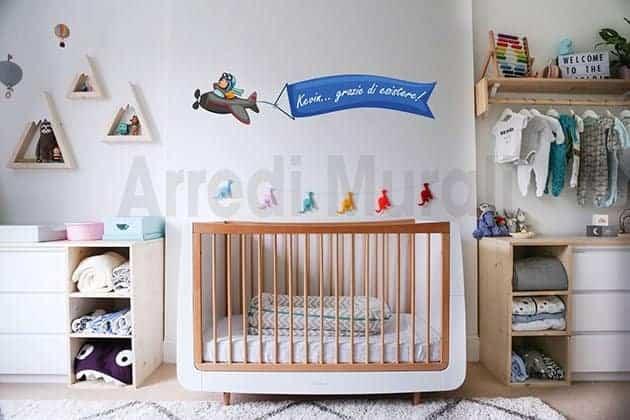 sticker murale cameretta bambini personalizzato