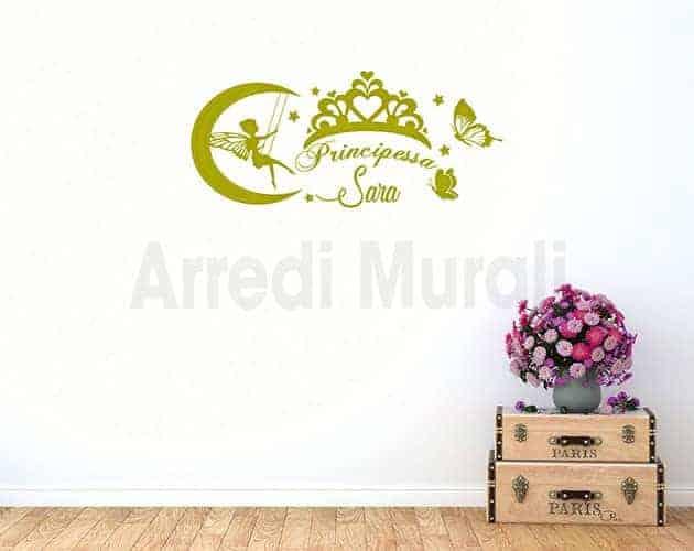 stickers-murali-cameretta bimba principessa