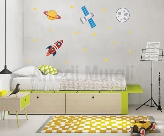 wall stickers spazio cameretta bimbo