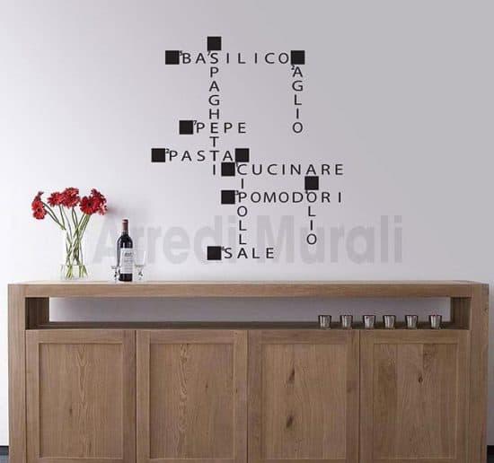 Adesivi murali cucina parole crociate