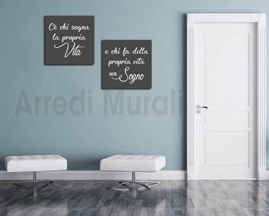 quadri moderni stampe su tela con frase