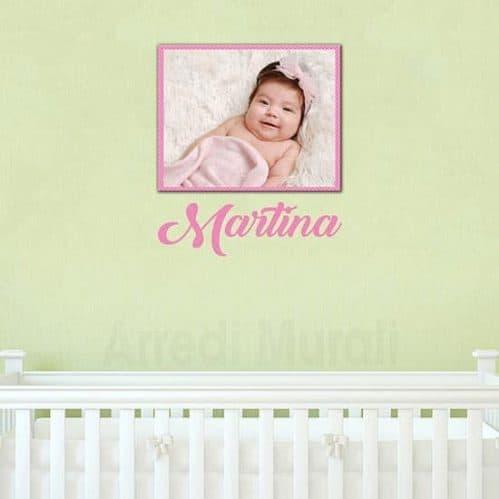 Quadro sticker personalizzati bambina arredo parete