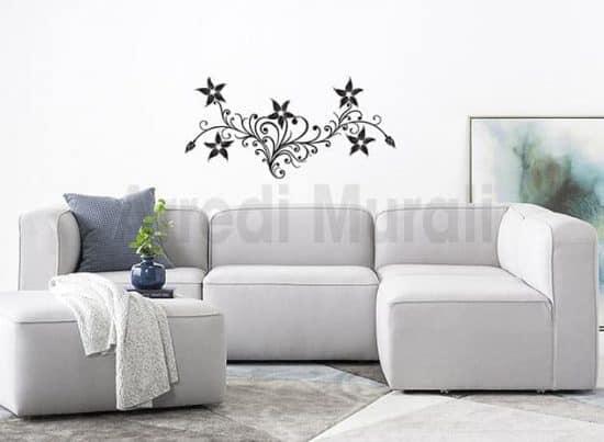 adesivi da parete fiori stilizzati decorazioni