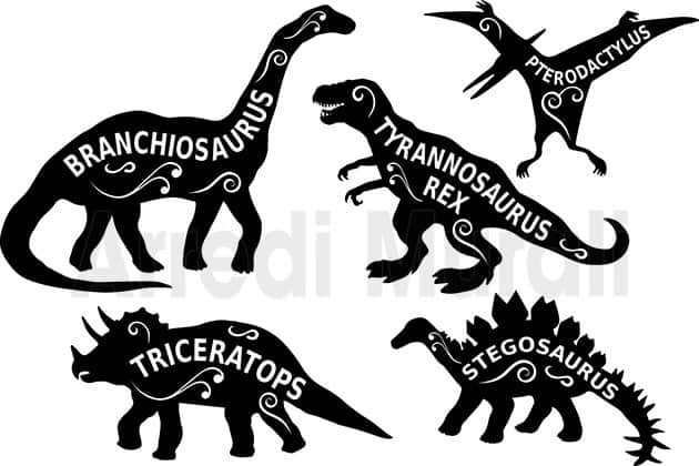 adesivi murali bambini dinosauri