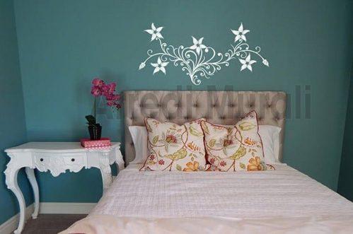 adesivi murali fiori stilizzati decorazioni