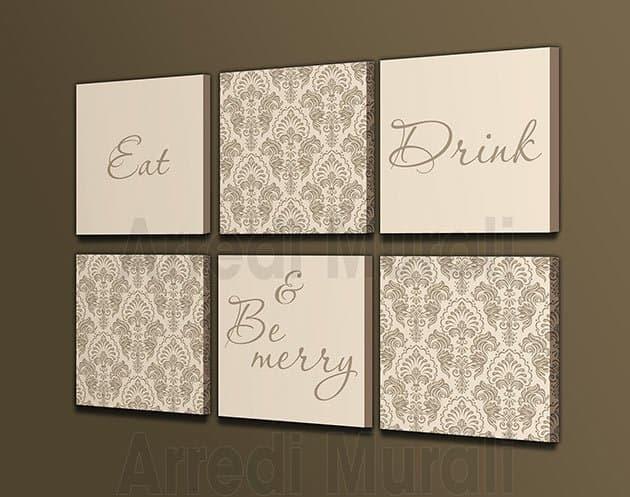 quadri moderni eat drink & be merry