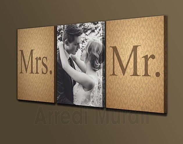 quadri moderni personalizzati sposi