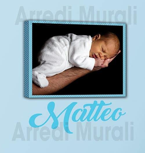 quadro sticker personalizzato bambino