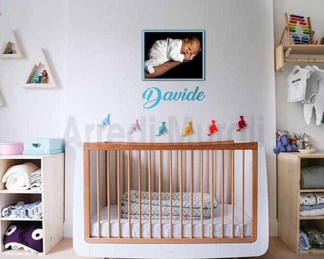 quadro sticker personalizzato nome bambino