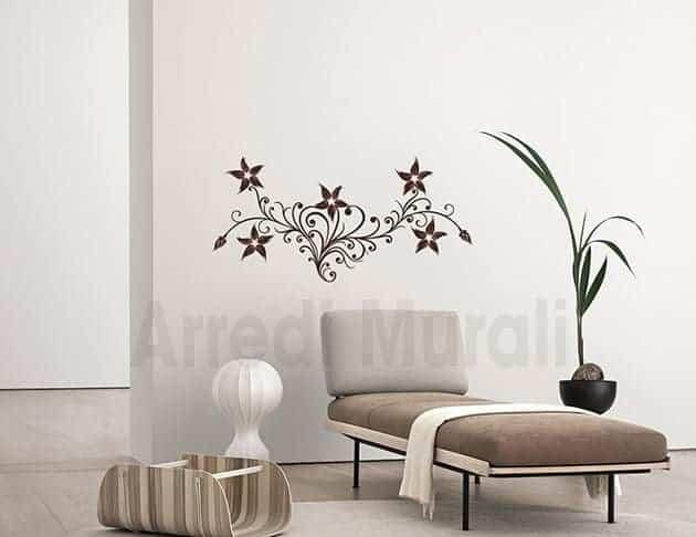 stickers murali fiori stilizzati decorazioni