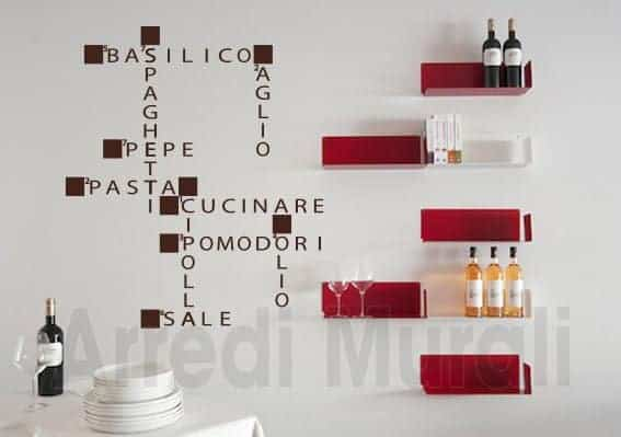 wall stickers cucina parole crociate