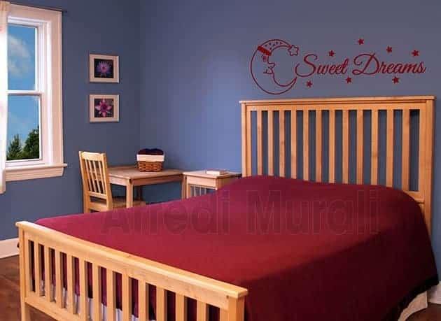 decorazioni murali camera da letto 1