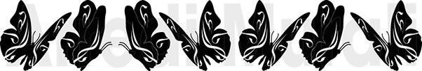 adesivi da parete sette farfalle