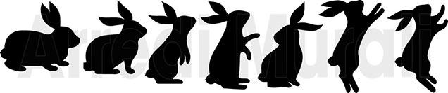 7 lavagne adesive conigli