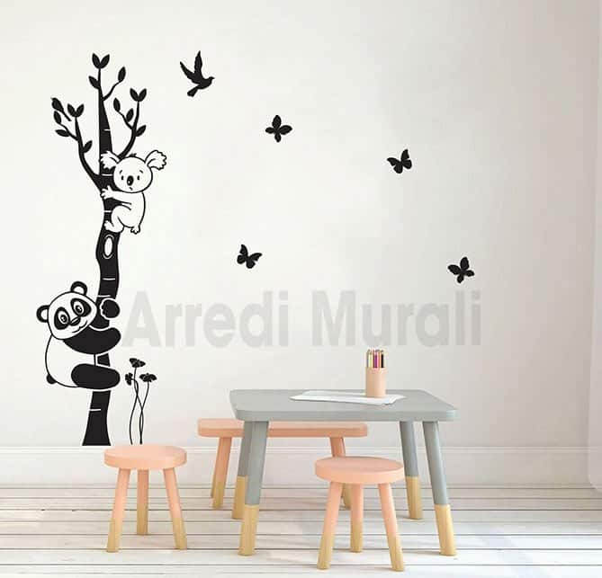 Adesivi da parete albero camerette bambini