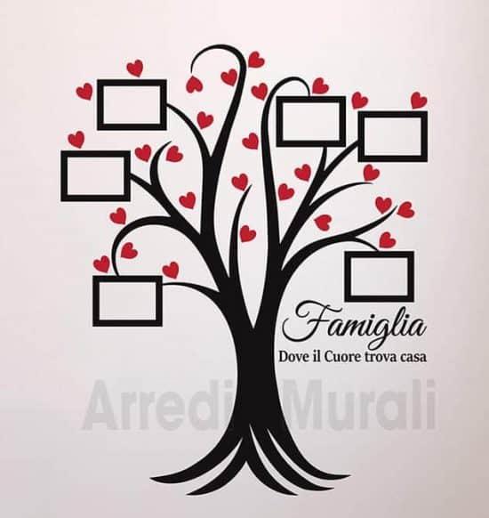 adesivi da parete albero cornici foto famiglia
