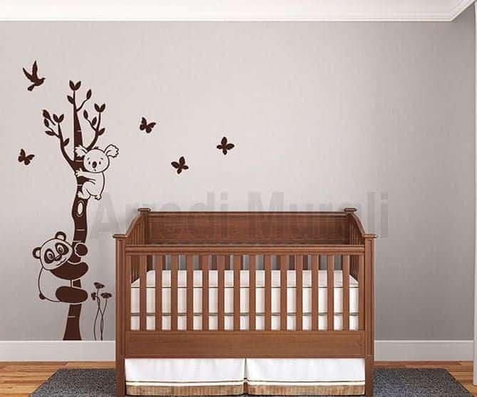 Adesivi murali albero camerette bambini