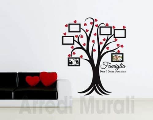 Adesivi murali albero cornici foto famiglia