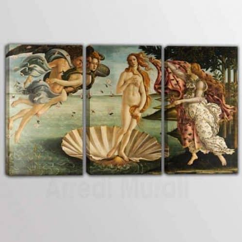 tele riprodotte dell'opera di Sandro Botticelli La nascita di Venere